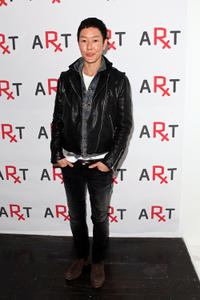 Jenny Shimizu at the RxArt's 10th anniversary party in New York.