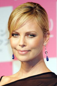 Charlize Theron promoting
