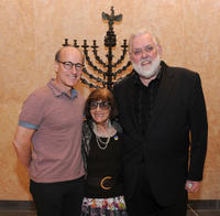 Peter Friedman, Anna Berger and Jim Brochu at the evening in honor of Philip Loeb in New York.