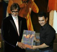 Amitabh Bachchan and Aamir Khan at the book launch of