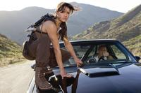 Michelle Rodriguez as Letty and Vin Diesel as Dom Toretto in
