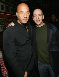 Vin Diesel and producer Robert Yari at the premiere of