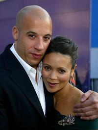 Vin Diesel and Thandie Newton at the premiere of