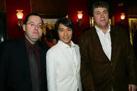 Michael Barker, Stephen Chow and Tom Bernard at the premiere of