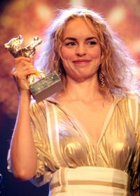 Nina Hoss at the Golden Bear Awards Ceremony during the 57th Berlin International Film Festival.