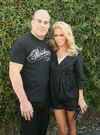 Tito Ortiz and Jenna Jameson at the Mercedes-Benz Fashion Week.
