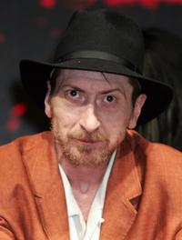 Frank Miller at the press conference to promote