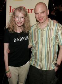 Mia Farrow and Michael Cerveris at the after party for a special reading of