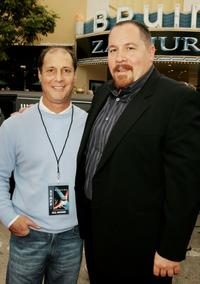 Jon Favreau and Geoff Ammer at the premiere of
