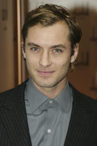 Jude Law at a ribbon cutting ceremony for the Alfred Dunhill 40th anniversary in Hong Kong.
