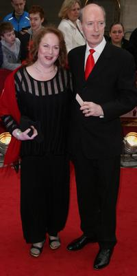 Pam Ferris and Roger Frost at the Galaxy British Book Awards.