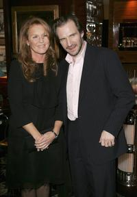 Ralph Fiennes and Sarah Ferguson at the after show party following the UK Premiere of