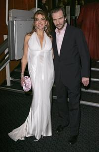 Ralph Fiennes and Natasha Richardson at the after show party following the UK Premiere of