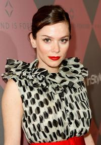 Anna Friel at the Diamond Information Center and InStyle Diamond Fashion Show Preview Luncheon.