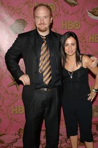 Louis C.K. and Pamela Adlon at the HBO Post Emmy Party.