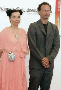 Bjork and Matthew Barney at the photocall of