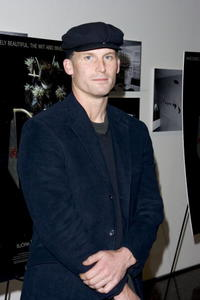 Matthew Barney at the premiere of