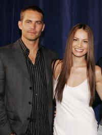 Paul Walker and Moon Bloodgood at the premiere of