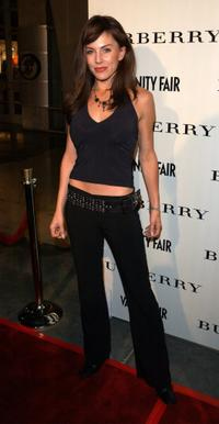 Krista Allen at the grand opening of Los Angeles Burberry store.