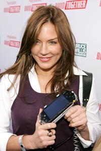Krista Allen at the Playstation BANDtogether, a benefit presented by Sony and the Bruce Willis Foundation.