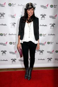 Krista Allen at the launch of Signorelli's Susan G.Komen apparel collection promoting breast cancer awareness.