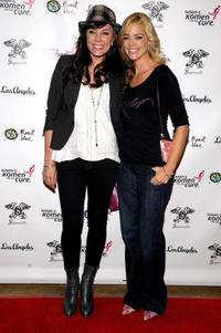 Krista Allen and Denise Richards at the launch of Signorelli's Susan G.Komen apparel collection promoting breast cancer awareness.