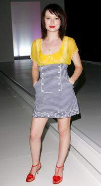 Emily Browning at the LOreal Paris Runway 1 show as part of LOreal Melbourne Fashion Festival 2007.