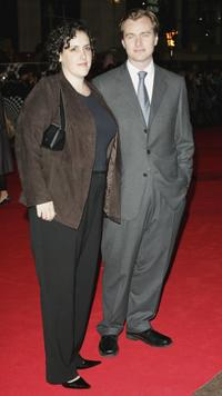 Christopher Nolan and his wife at the UK premiere of