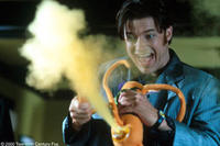 Brendan Fraser wrestles with his own cartoon creation come to life, Monkeybone, a petulant rascal with a penchant for wisecracks and racy antics in