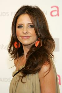Sarah Michelle Gellar at the 15th Annual Elton John AIDS Foundation Academy Awards viewing party.