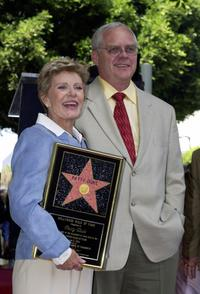 Patty Duke and her husband Michael Pearce at the ceremony honoring Duke with a star on the Hollywood Walk of Fame.