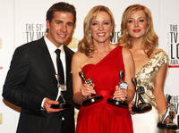 Hugh Sheridan, Rebecca Gibney and Jessica Marais at the 51st TV Week Logie Awards in Australia.
