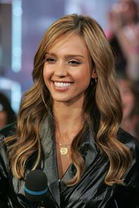 Jessica Alba at the MTV's Total Request Live.