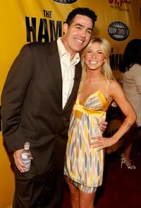Adam Carolla and Julianne Hough at the premiere of