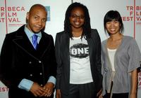 DJ Spooky, Dee Rees and Marilyn Fu at the 2007 Tribeca Film Festival awards.