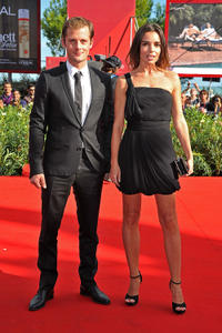 Nicolas Duvauchelle and Elodie Bouchez at the premiere of