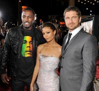 Idris Elba, Thandie Newton and Gerard Butler at the premiere of