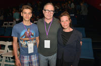 Silas Yelich, Tom Gilroy and Lili Taylor at the premiere of