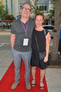 Tom Gilroy and Lili Taylor at the premiere of