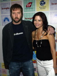 Tom Green and Kirsta Campbell at the Los Angeles premiere of