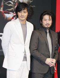 Jang Dong-gun and Hiroyuki Sanada at the press conference of