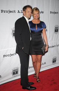 Kevin Zubchevich and Nancy O'Dell at the Project A.L.S Presents Sarah Silverman Live In Concert.
