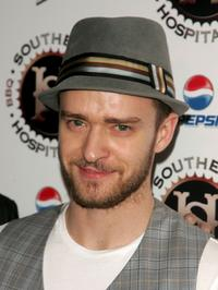 Justin Timberlake at the grand opening of new restaraunt Southern Hospitality.