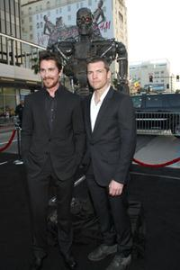 Christian Bale and Sam Worthington at the premiere of