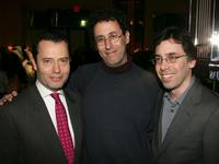 Colin Calendar, Tony Kushner and Mark Harris at the after party of the premiere of