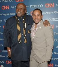Louis Gossett, Jr. and Hill Harper at the CNN, LA Times, POLITICO Democratic Debate.