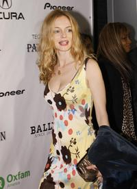Heather Graham at the Oxfam Event Honoring Emile Hirsch for their movie