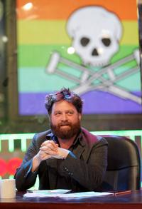 Zach Galifianakis at the Jackass 24 Hour MTV Takeover.