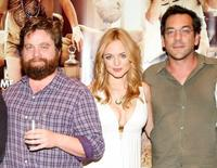 Zach Galifianakis, Heather Graham and Todd Phillips at the