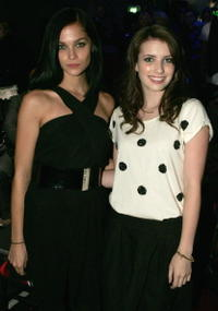 Model Leah and Emma Roberts at the Rosemount Sydney Fashion Festival 2008.